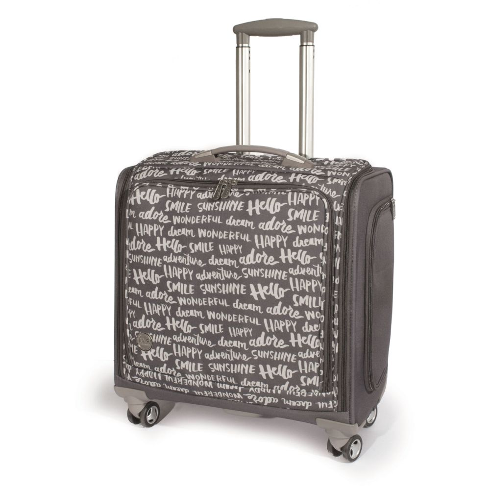 360 crafter 39 s trolley bag charcoal by we r memory for We r memory keepers craft bag