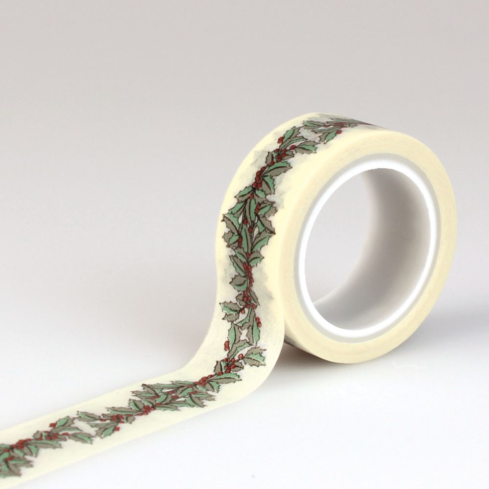 tape carta bella christmas wonderland decorative tape holly berry