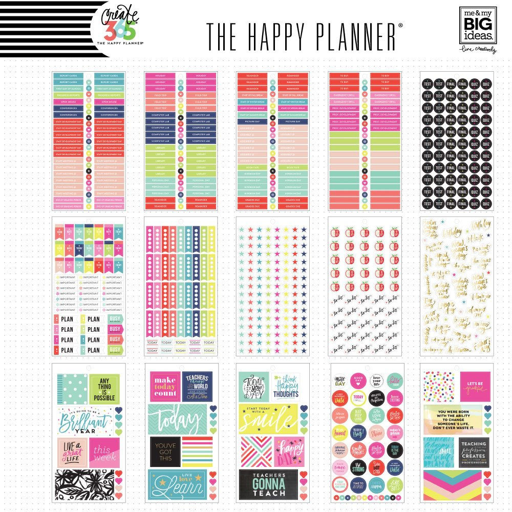 Create 365 the happy planner sticker value pack big for Me my big ideas planner