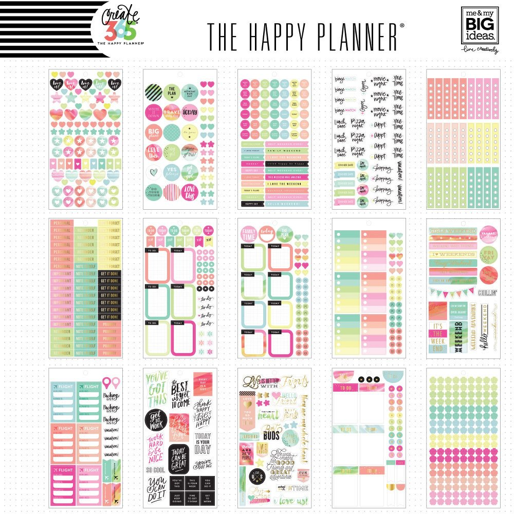 Create 365 the happy planner sticker value pack for Make a planner online