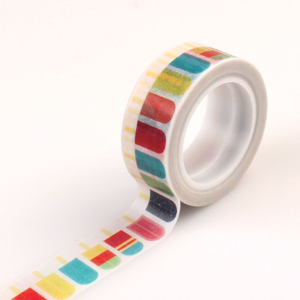 decorative tape popsicles by echo park for scrapbooks