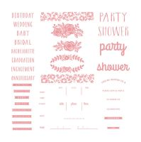 We R Memory Keepers Letterpress Plates - Floral Invite