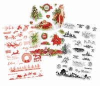 Simple Stories Simple Vintage Christmas Clear Stickers