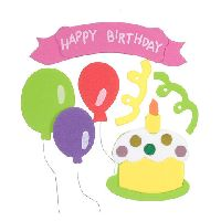 Darice Foamies 3-D Stickers - Birthday