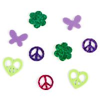 Darice Foamies Mixed Media Stickers - Holographic - Peace Signs - 50 pieces