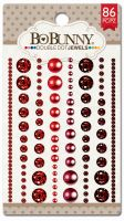 Bo Bunny Double Dot Ruby Red Jewels (86/package)