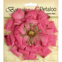 Petaloo Textured Elements Burlap Flowers Large 4
