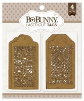 Bo Bunny Lace Laser Cut Chipboard Tags