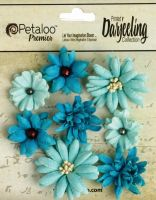 Petaloo Mini Mix x 8 - Teastained Teals