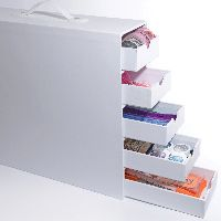 Totally Tiffany Stash And Store 5-drawer Case-white