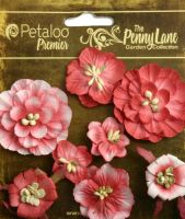 Petaloo Mixed Blossoms x 8 - Antique Red