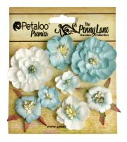 Petaloo Mixed Blossoms x 8 - Robin Egg Blue