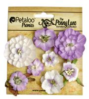 Petaloo Mixed Blossoms x 8 - Soft Lavender