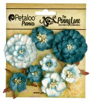 Petaloo Mixed Blossoms x 8 - Teal