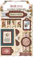 Bo Bunny Provence Layered Chipboard