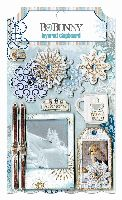 Bo Bunny Whiteout Layered Chipboard