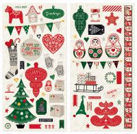 Bo Bunny Merry & Bright Chipboard
