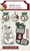 Bo Bunny Tis The Season Layered Chipboard