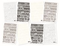 Simple Stories SN@P! Basics 4x6 Basics Letter Stickers (Grey, Cream, Black)