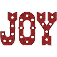 American Crafts Heidi Swapp Marquee Love Plastic Shape Kit - Christmas Joy