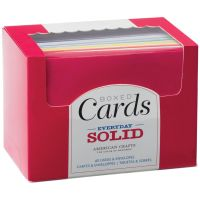 American Crafts Everyday Solid A2 Cards Boxed Set