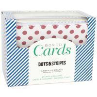 American Crafts Boxed Card Set Dots & Stripes