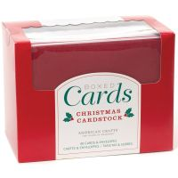American Crafts Christmas Solid A2 Cards Boxed Set