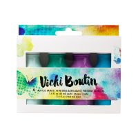 American Crafts Vicki Boutin Mixed Media - Acrylic Paint - Set 2 - (4 Piece)