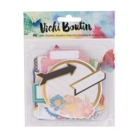 American Crafts Vicki Boutin Mixed Media - Label Stickers - (40 Piece)