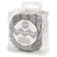 We R Memory Keepers Chevron Washi Tape-Silver