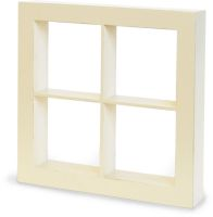 Graphic 45 Wooden Window Shadow Box - Ivory