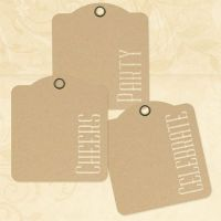 Graphic 45 Cheers, Party, Celebrate - Kraft Tags