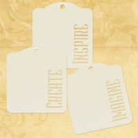 Graphic 45 Inspire, Create, Imagine - Ivory Tags