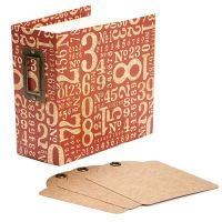 Graphic 45 Square Tag & Pocket Album - Red Numbers