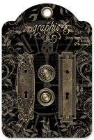 Graphic 45 Metal Door Plates & Knobs