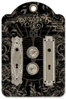 Graphic 45 Shabby Chic Metal Door Plates & Knobs