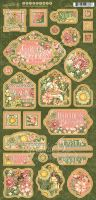 Graphic 45 Garden Goddess Chipboard
