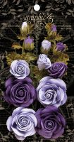 Graphic 45 Rose Bouquet Collection—French Lilac & Purple Royalty