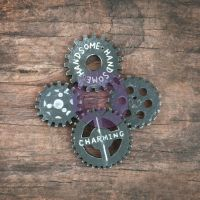 Prima Marketing Resin in a Wood Box - Gears