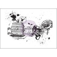 Prima Marketing Mixed Media Cling Stamp - Treasured Memories 8