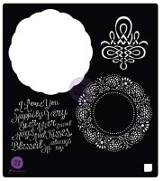 Prima Marketing 6x6 Stencil: Vintage Emporium Doily