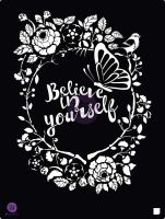 Prima Marketing 8x10 Stencil - Believe