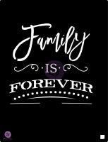 Prima Marketing 9.5x12 Stencil: Family is....