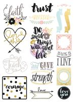 Prima Marketing Love Faith Scrap -Stickers