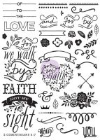 Prima Marketing Love Faith Scrap -Cling Stamp - Elements