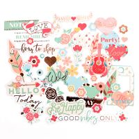 Prima Marketing My Prima Planner Embellishments - Be Happy - Ephemera Pack