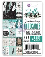 Prima Marketing Zella Teal - 3x4 Journaling Cards
