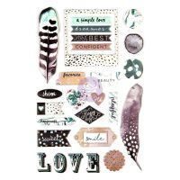 Prima Marketing Zella Teal- Puffy Stickers