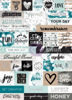 Prima Marketing Zella Teal- Word Stickers