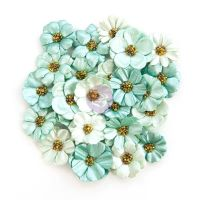 Prima Marketing Zella Teal- Flowers
